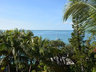 Green Turtle Cay Home, sleeps 7, with dock slip and amazing sunset views