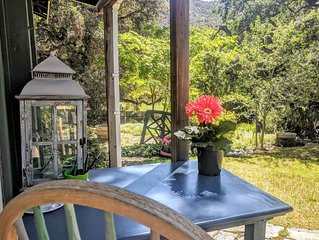 Meadow Cottage in Carmel Valley, Outdoor Firepit, Deck Overlooking Meadow