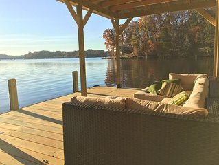 Lake house with big water view, private swimming beach less than 1 hour from ATL