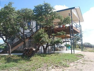 Stay on a ranch in the Texas Hill Country relax and visit nearby wine country!