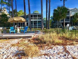 'Legasea,' Old Florida Beachfront Charm with Two Screen Porches, Sleeps 7