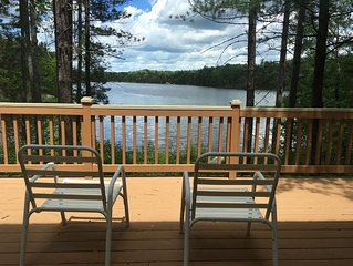 Clean, cozy lakefront cottage 1/2 mi from Blue Bear ORV and snowmobile trail