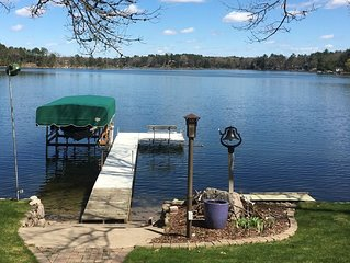 Lakefront rental on Pine Lake, a full recreational lake near Waupaca, Wi.