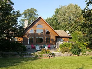 Log Home on Shadow Lake, Coboconk - perfect family spot, lawn, beach, and deck