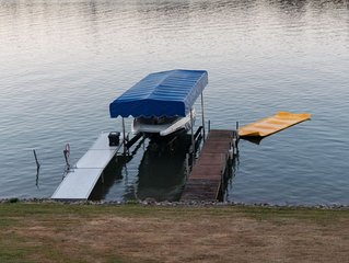 Cheboygan lakefront house on all-sports Long Lake