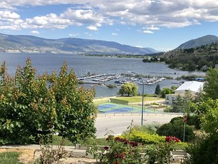 New! Best beach access + lake-views in Summerland! All on 1 level. Central A/C.
