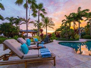 Grand Alii Estate - Sleeps 10/ Private Pool/ Private Tennis Court/ Ocean Views