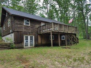 Rustic 4 Bedroom Log Cabin in the Woods