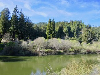 Russian River Beauty! Riverfront Vintage-Modern Fresh-Air Getaway, Sleeps 6-8