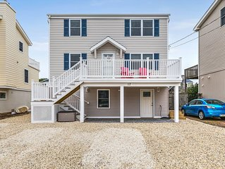Bayside Duplex Unit 1 on LBI  steps from the bay