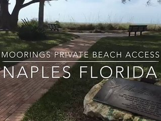 Gulfshore Boulevard Prime Private Beach Location in the Moorings.