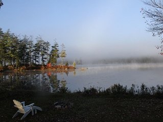 A cozy cabin just 20 feet from the shore of Toddy Pond