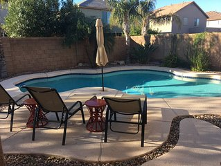 Private heated pool, 4 bedroom, 3000 sq foot,  pool table and Tiki bar!