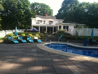 Exquisite Family Estate With Heated Pool, Grill, 5 Fireplaces, Gym etc.