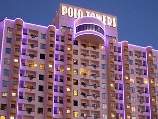 The center of the world famous Las Vegas Strip!