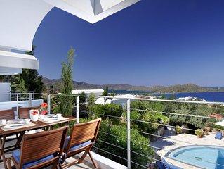 Schones, modernes Ferienhaus mit Pool, Wifi, Meerblick - Elounda, Kreta