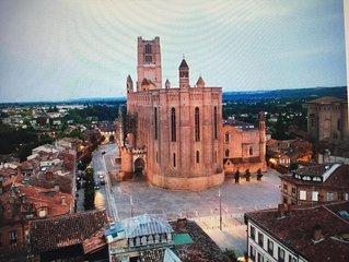 appart de caractère 2 pièces  ,4 pers centre historique au pied de la cathédrale