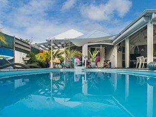 Villa CARBET DES ILES Ste Anne - 6/7 pers PISCINE & SPA - Bourg & plage a 800 m