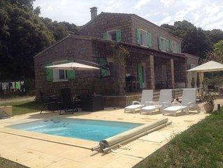 Villa de caractère proche mer, montagne et rivière, Sartène, en Corse