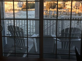Bayfront with dock and fire pit, * Harris Harbor, Beach  Haven Park, LBI