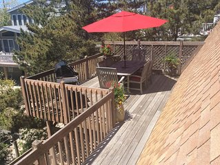 Oceanside, A/C, Large deck, outside shower, ample parking