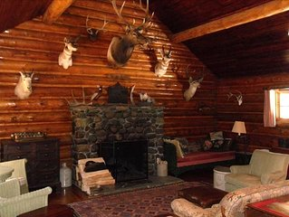 A Great Log Cabin   Rustic  One of a Kind