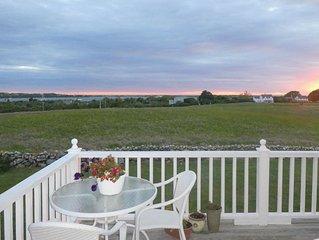 Block Island - Crescent Beach with Beautiful Sunset Views over Mitchell Farm