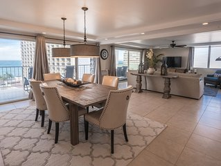 Luxury 2-Bedroom Waikiki Penthouse with Ocean Views, Free Parking and WIFI