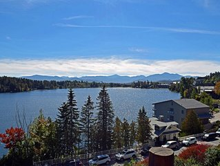 Lake Placid Condo with Lake & High Peak View. Great Location.