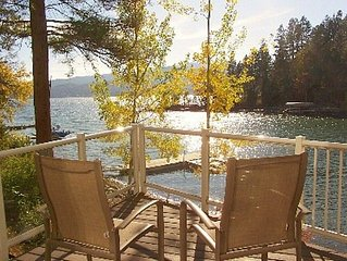 Waterfront Flathead Lake Home(not condo)~ Decks~ Dock~Quiet Neighborhood
