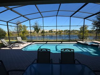 Windsor Hills Best Private Lake Front Location!!! 6BR Games BBQ Wifi Heated Pool