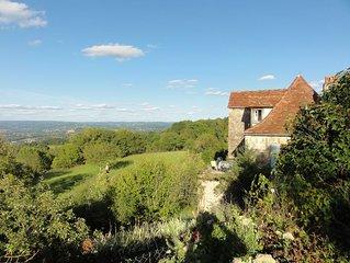 Writer's Retreat, Tranquil Stone Farmhouse, Views, Ancient Barns, Rose Garden
