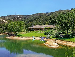 San Diego(Fallbrook)LAKEFRONT Resort Style Lakehouse w/Pool,Spa, Beaches close,