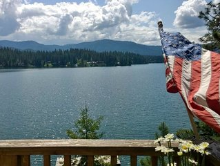 Family-friendly with a beautiful view of Hayden Lake with new outdoor Patio