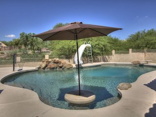 4 Bedroom Single Story Golf Course Home, Heated Diving Pool + Slide, & Hot Tub