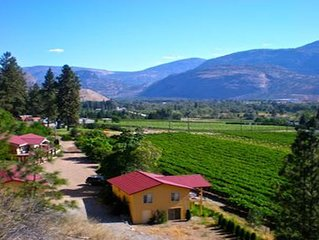 exclusive, 1 BR guest house overlooking vineyard