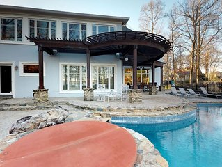 Open Lakefront Floorplan with Infinity Pool, Hot Tub, Sauna, Game Room