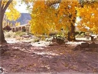 Rinconada is situated on three very private acres of gardens and fruit orchards.