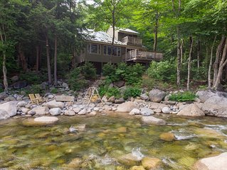 Right on the River in Loon Mountain Resort! Gorgeous Views! Walk to Chair Lift!