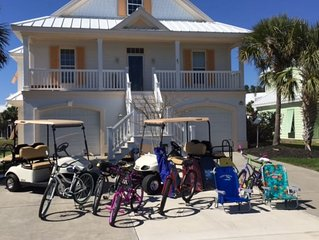Surfside Beach 5 Bedrooms, 4.5 bath, 2 Golf carts,Bikes,Chairs, and Game room