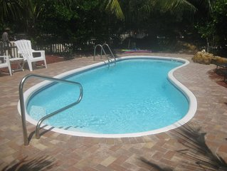 SPCL FALL RATES __THREE LOTS WITH POOL AND DOCK!! SECLUDED LOWER KEYS RETREAT