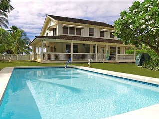 Ocean Front Historic Estate w/ Private Pool on Sunny Westside....  TVNCU #1099