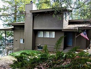 Berkshire lake house on lake Garfield, Monterey MA; private, 4 BR, sleeps 10