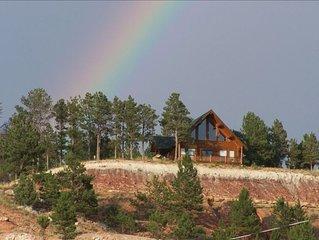 Devils Tower View, Custom Cabin, in Beautiful Black Hills, Wy