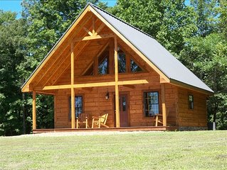Beautiful Turkey Hill Log Cabin Located on 20 Acres of Hilltop Property