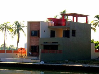 Barra de Navidad Waterfront Canal Home with Private Pool