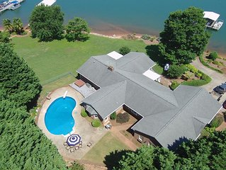 Lake front home with dock, boat ramp and pool.  Minutes from downtown Clemson.