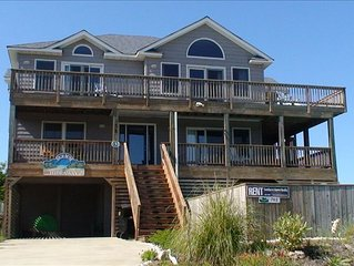 Beautiful Oceanview  in Duck – Private Pool and Hot Tub Included!