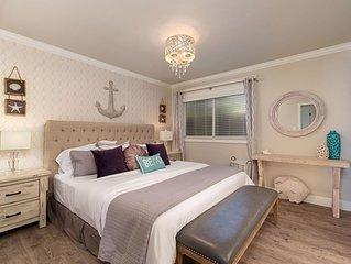 Luxurious 3-bed/2-bath Coastal Modern Beach Cottage-Central AC, Walk to Beach!
