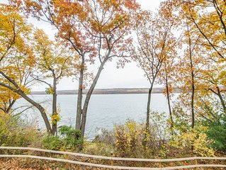 View of Seneca lake from the house and the yard